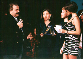 con Alessia Merz e Laura De Marco al Cantablu nel 97