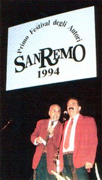 Sergio Cintura con Alberto Calì a Sanremo