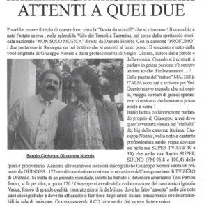 Profumo (S.Cintura). canta Giuseppe Nonnis